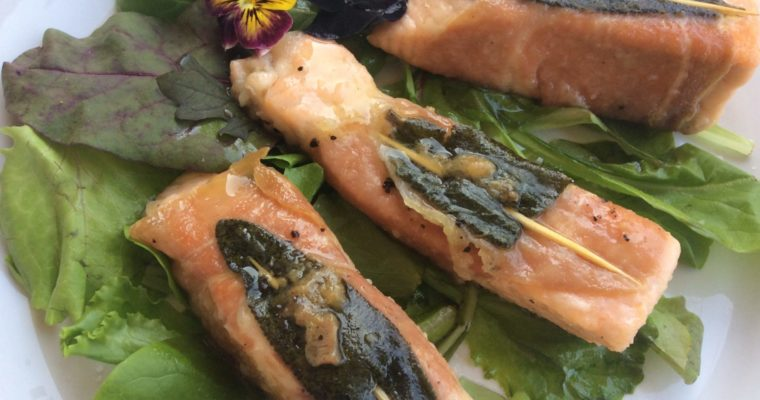 saltimbocca al salmone