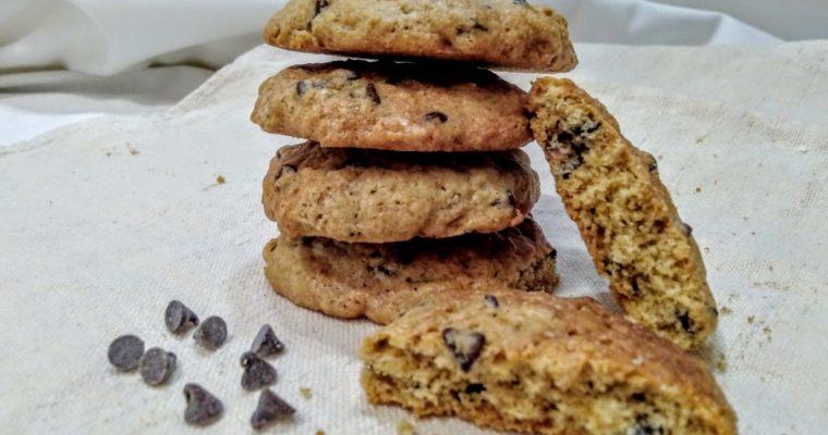 biscotti all'avena con gocce di cioccolato