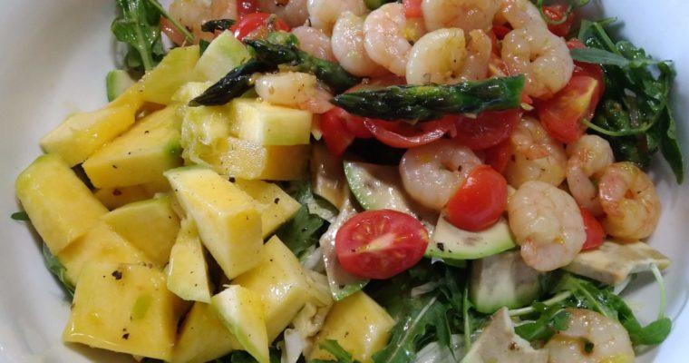 insalata di gamberi e mango