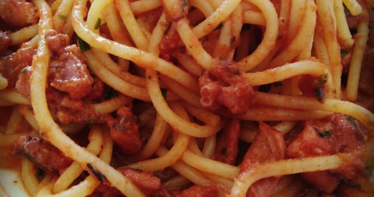 spaghettoni con i moscardini