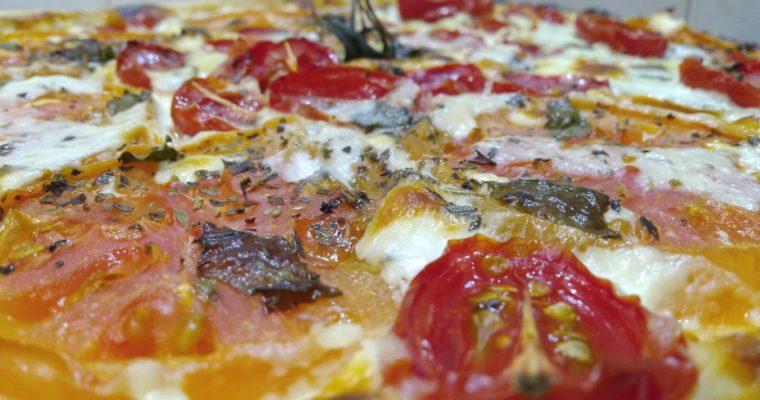 torta salata stracchino e pomodori
