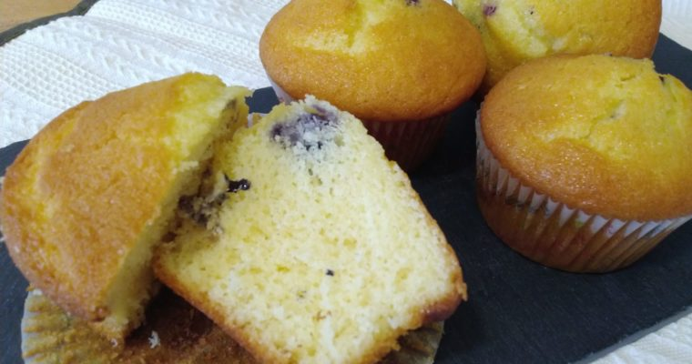 muffin allo yogurt e mirtilli