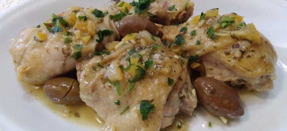 Pollo alla marocchina con limoni in salamoia